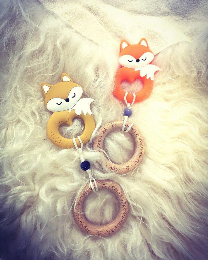 fox teething bracelet