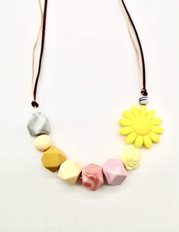 yellow daisy teething necklace