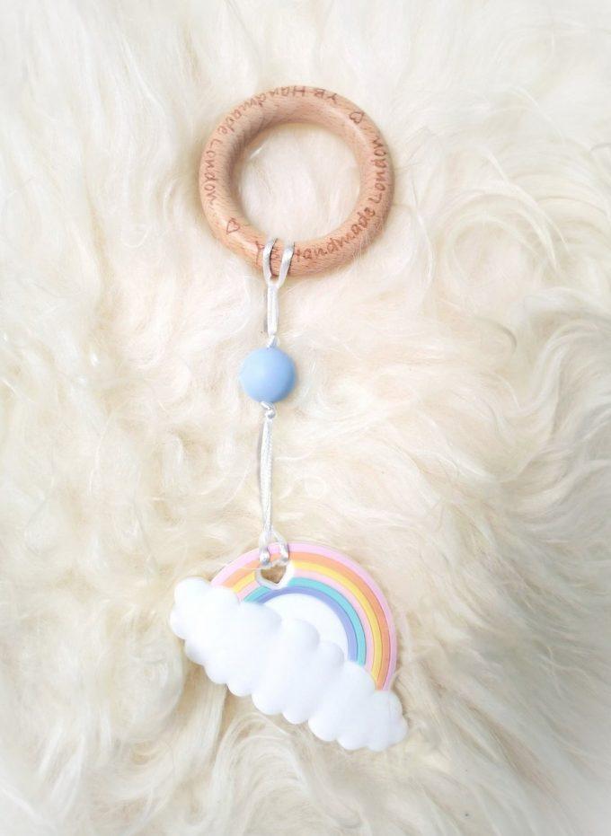 rainbow teething bracelet