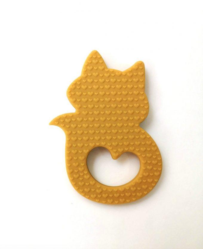 fox teething bracelet - yellow