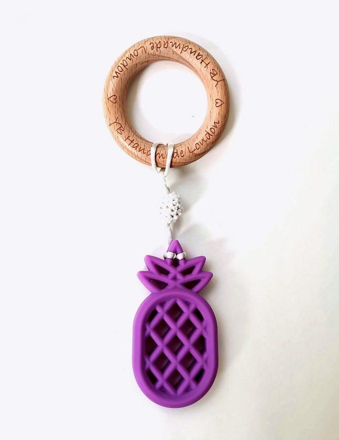 pineapple teething bracelet - purple