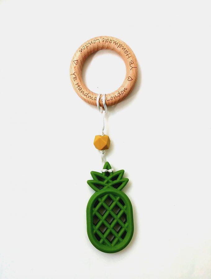 pineapple teething bracelet - bean green