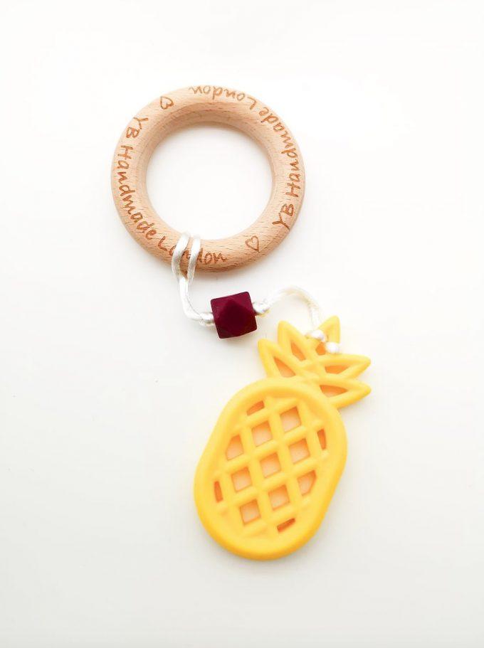 pineapple teething bracelet - yellow