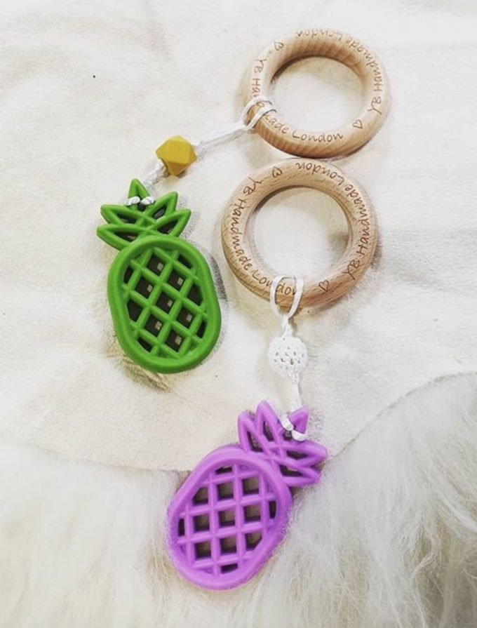 pineapple teething bracelet