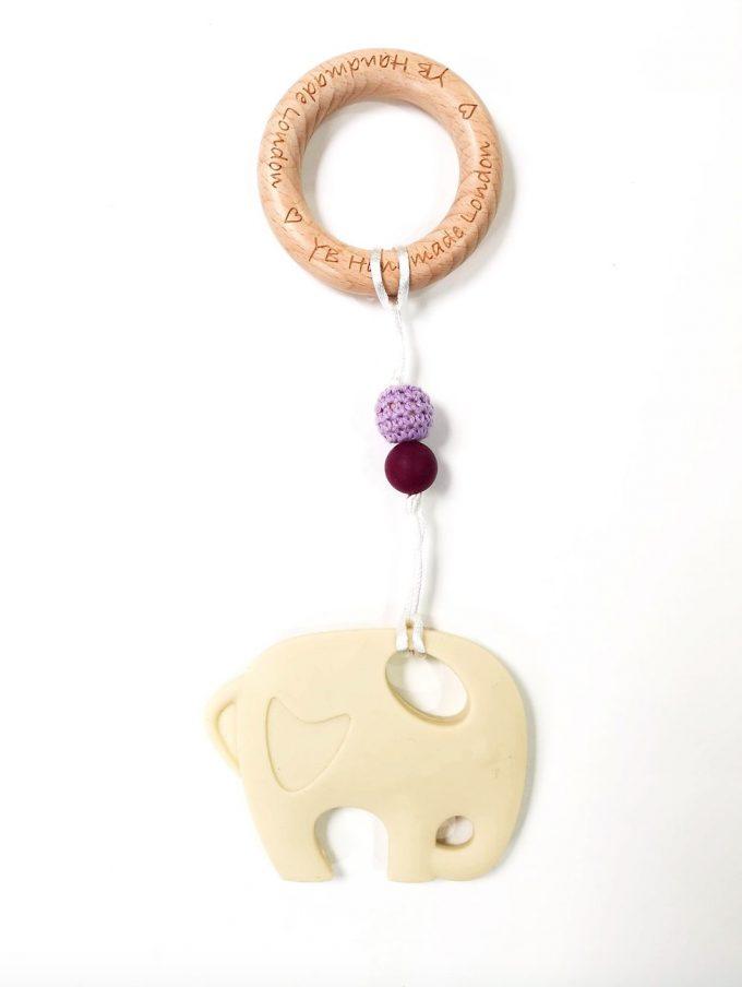 elephant teething bracelet - beige