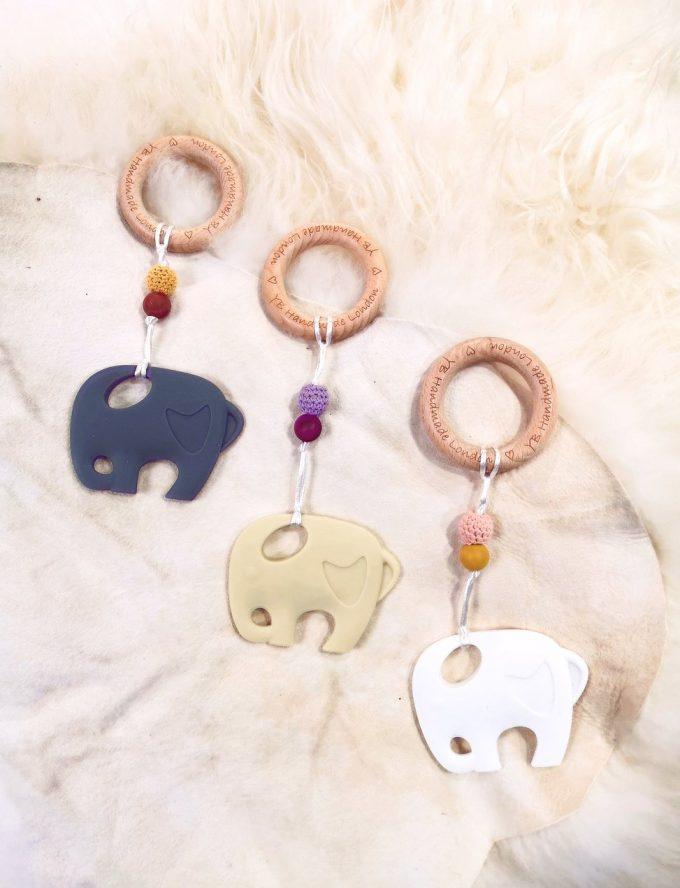 elephant teething bracelet