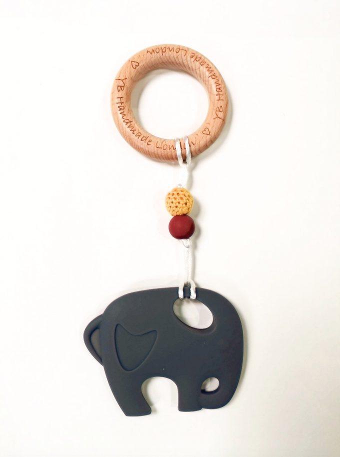 elephant teething bracelet - grey