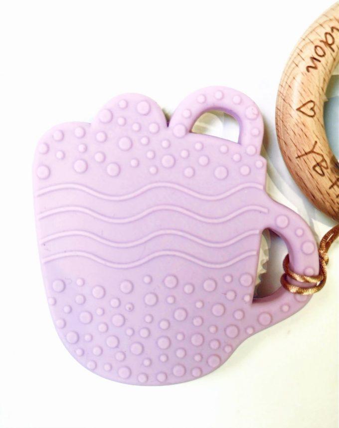 hot chocolate teething bracelet - lilac