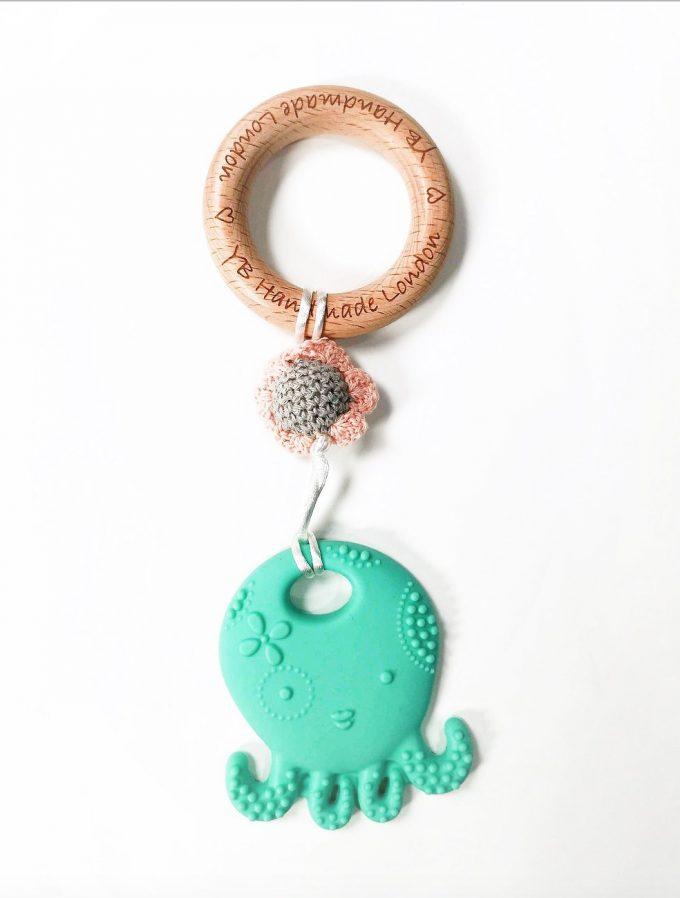 octopus teething bracelet - turquoise