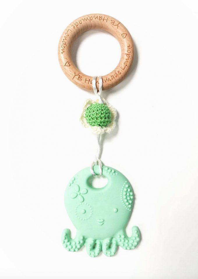 octopus teething bracelet - green