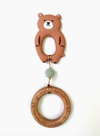 bear teething bracelet