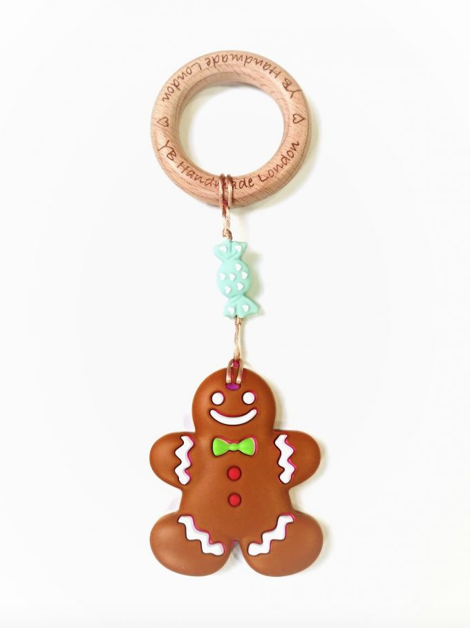 ginger bread man teething bracelet