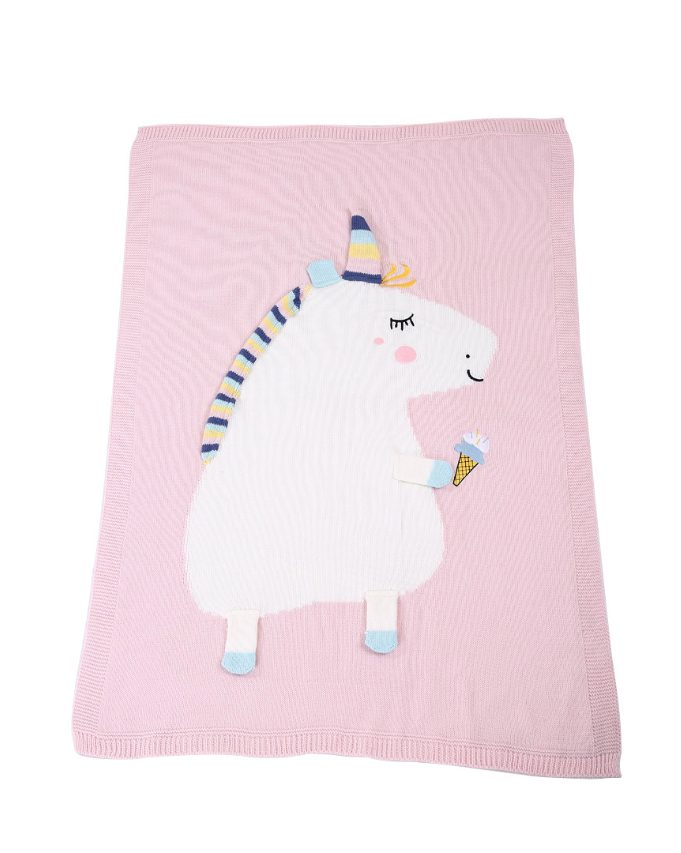 unicorn blanket - pink