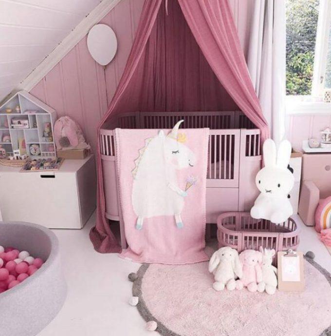 unicorn blanket - pink