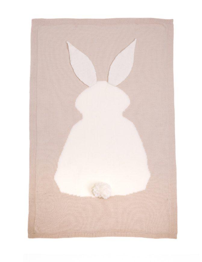 bunny blanket - camel
