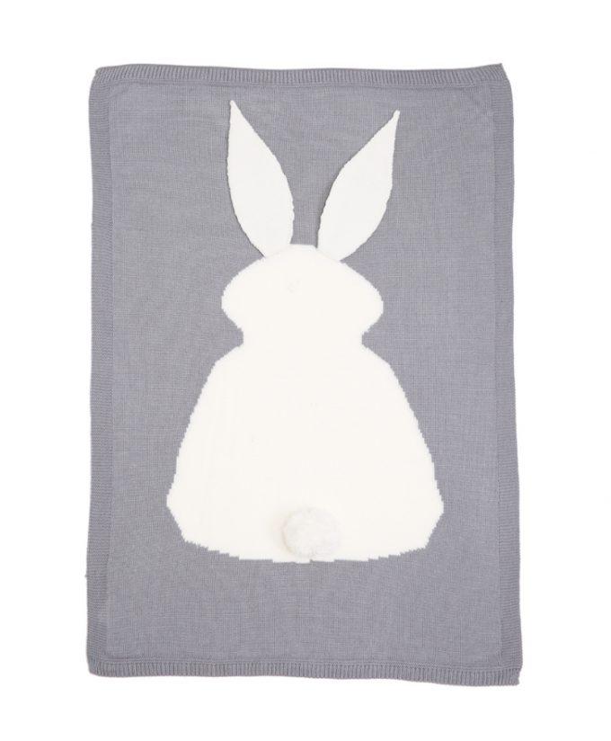 bunny blanket - grey