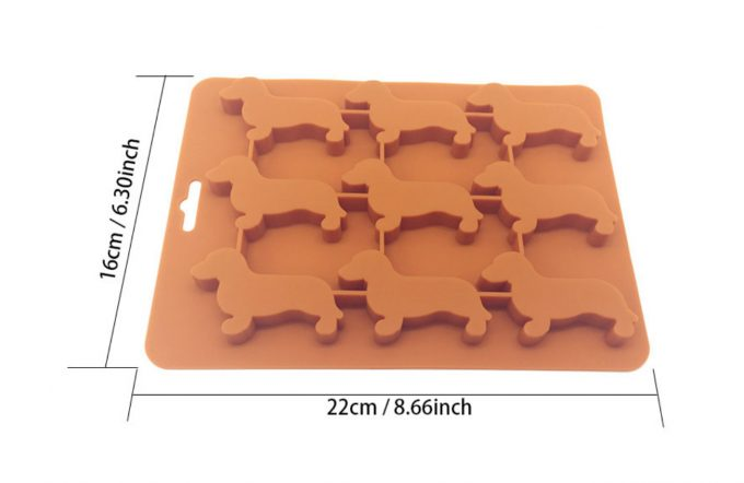 Dachshund Natural Silicone Ice Mould