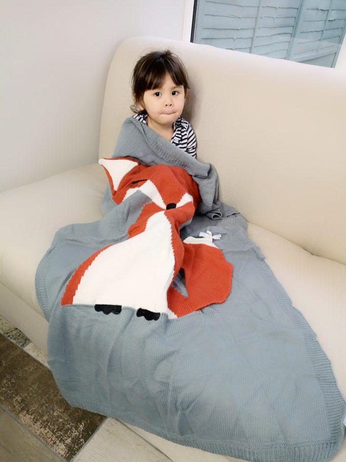 baby blanket - 3d fox