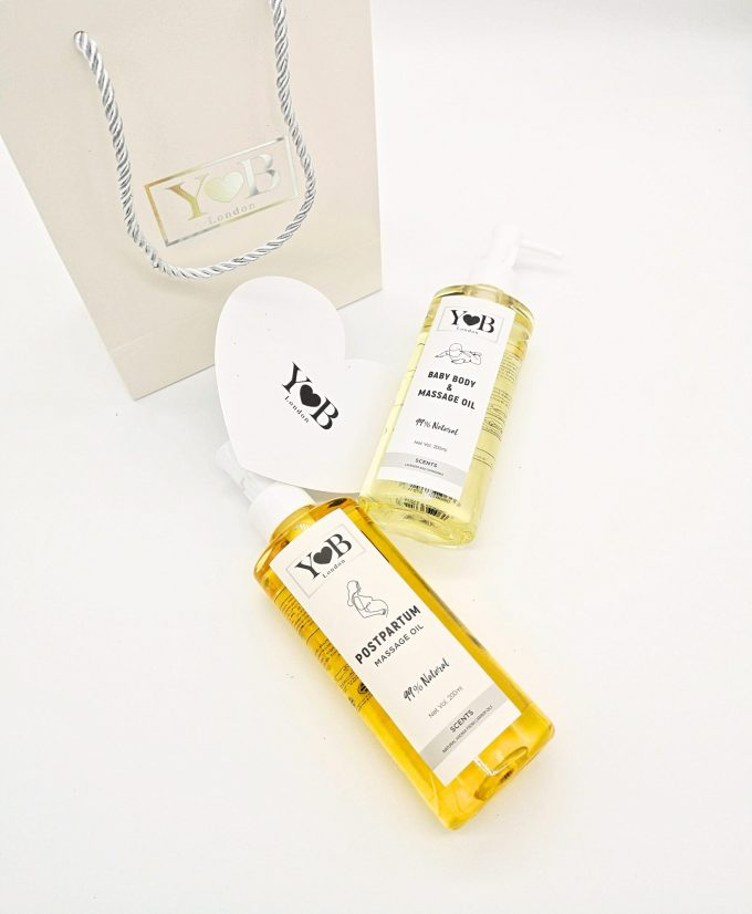 yb mother baby natural body massage oil