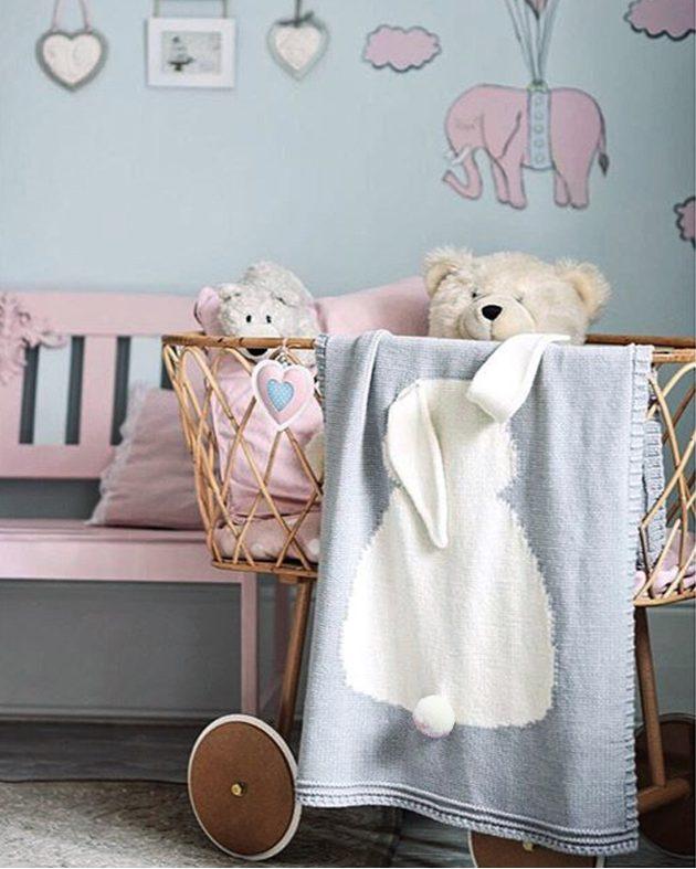 grey bunny baby blanket