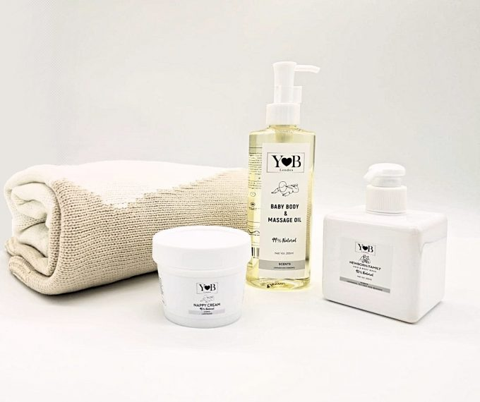 natural skincare gift set for baby