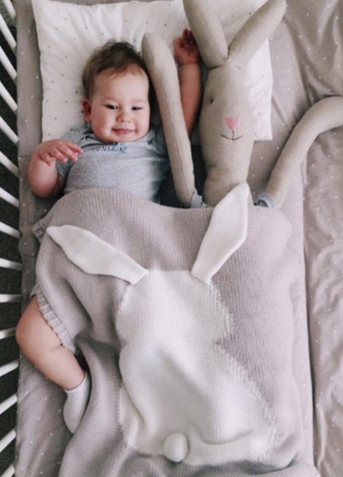 bunny blanket beige