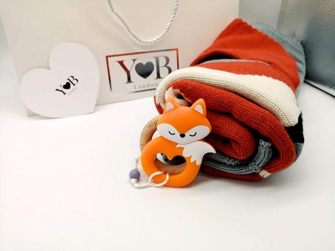 baby shower gift set fox