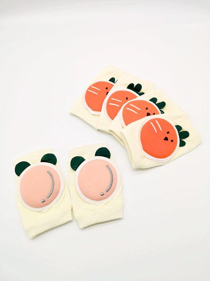 knee pad mix 3 peach carrot